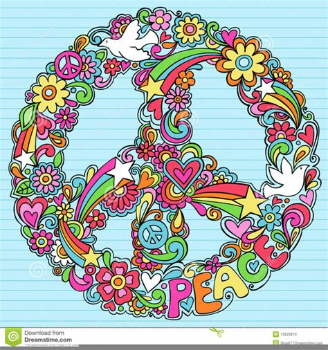 Hippie Peace Sign Clipart   Free Images at Clker.com ...