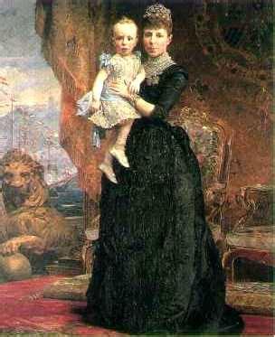 Historia de España   Maria Cristina de Habsburgo y Alfonso ...