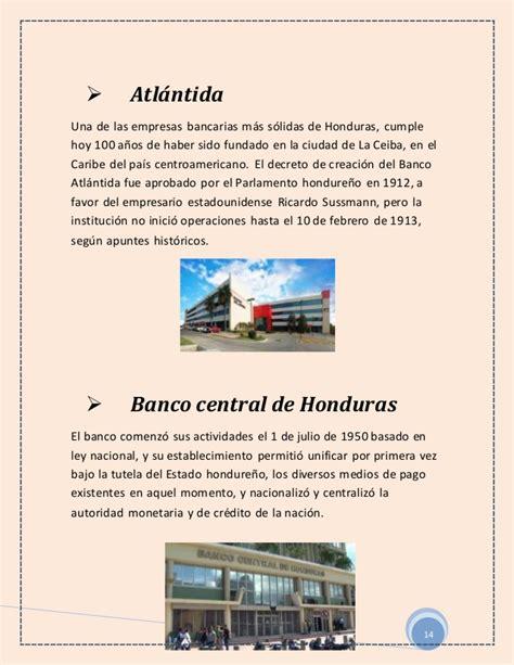 Historia de la banca nacional (bancos de honduras ...