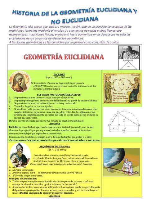 ..Historia de la geometria euclidiana y no euclidiana