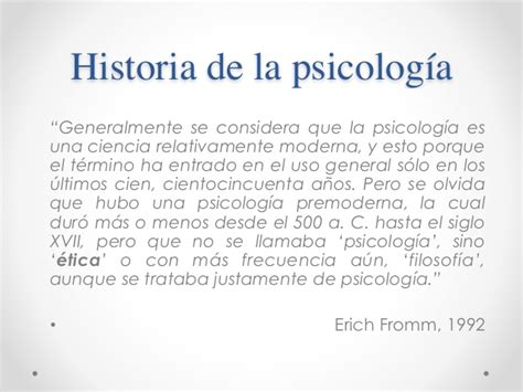 Historia de la psicología - Tema 1