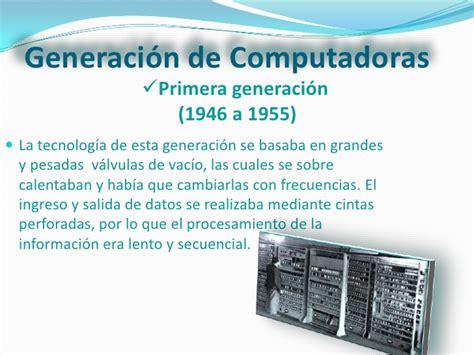 Historia de las Computadoras con sus Generaciones