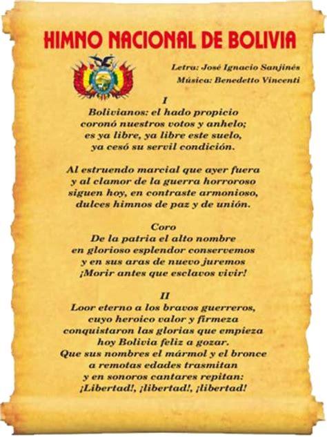 Historia del Himno Nacional de Bolivia   Lifeder