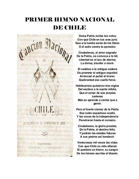 Historia del himno nacional de Chile .word. BY: AIXA
