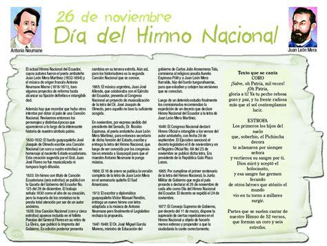 Historia del Himno Nacional del Ecuador
