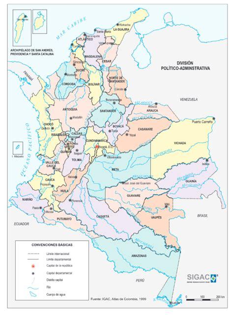 Historia del mapa de Colombia - Geografía Infinita
