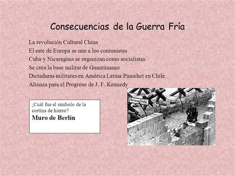 Historia del Siglo XX La Guerra Fría Características de la ...