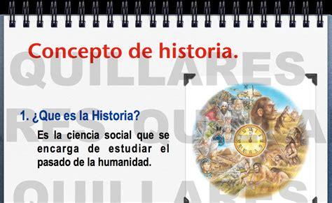 Historia Universal: Concepto de Historia