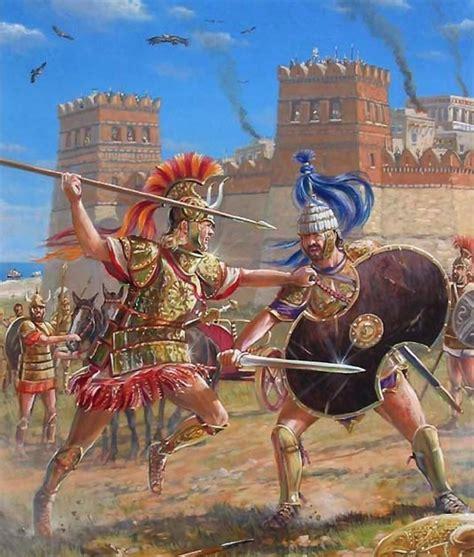 Historia y mito; Aquiles a punto de enviar al Hades al ...