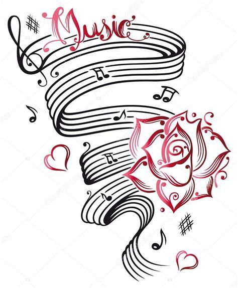 Hoja de música, notas musicales — Vector de stock ...