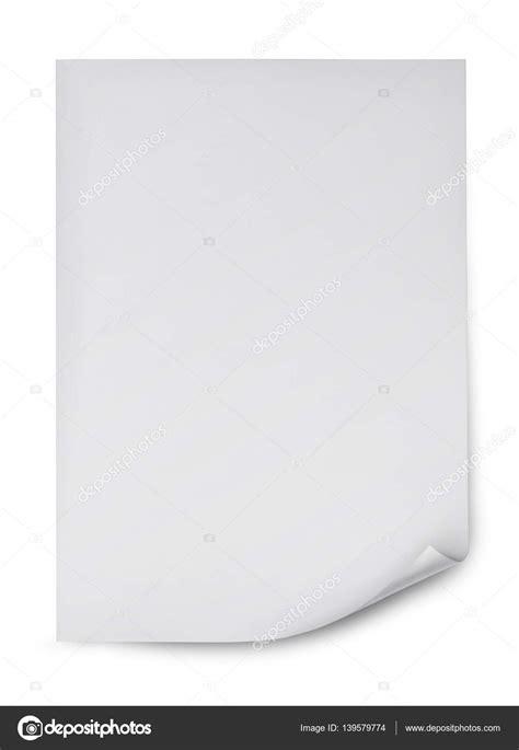 hoja de papel blanco en blanco — Fotos de Stock ...