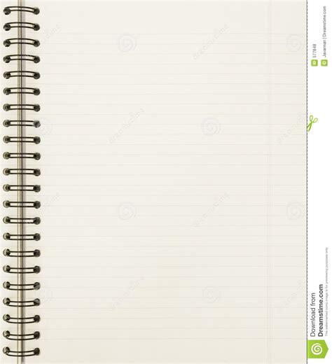 Hoja En Blanco Del Cuaderno Fotos de archivo libres de ...