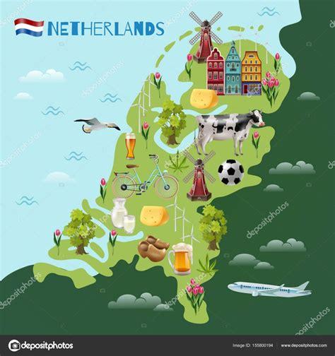 Holanda Mapa Turistico | thujamassages