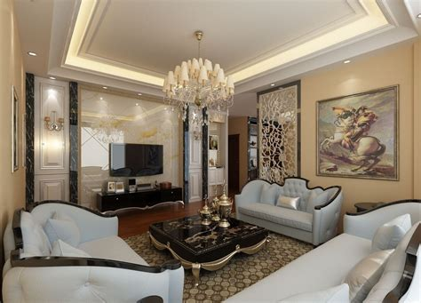 Hollow wall decor for villa living room | Download 3D House