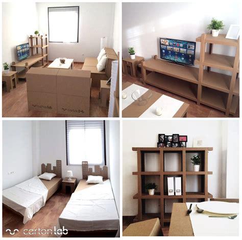 Home Staging. Cardboard furniture