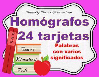 Homografos - Homographs - Spanish | Spanish and Homographs