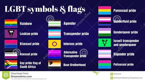 Homosexuelle Flaggen Und Symbole LGBT Auf Dunklem ...