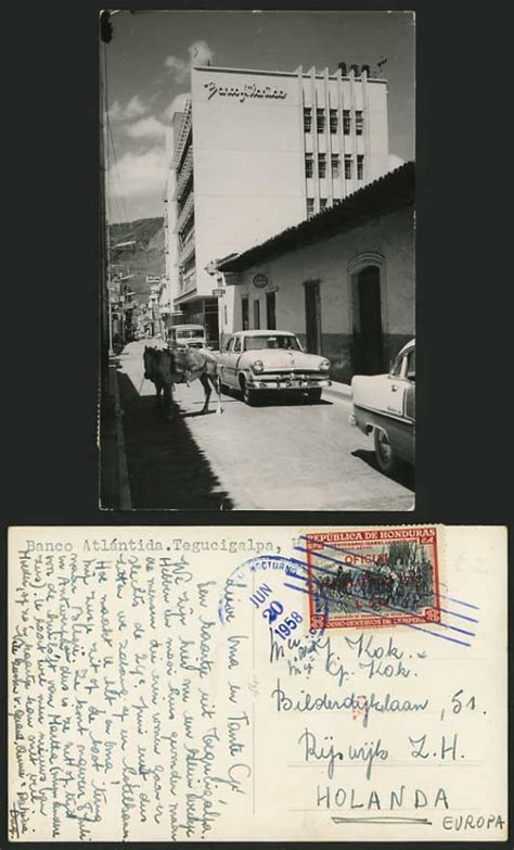 HONDURAS 1958 Old Postcard TEGUCIGALPA Banco Atlantida for ...