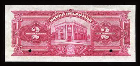 Honduras currency 2 Honduran Lempiras banknote, Banco ...