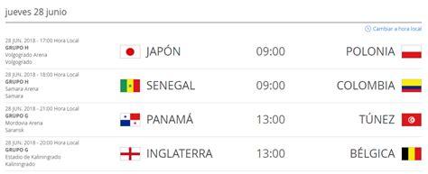 Hora de Colombia de los partidos del Mundial de Rusia ...