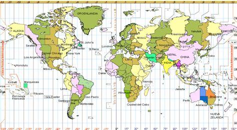 Horario Mundial  Mapa    Hora actual