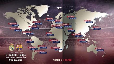 Horario y dónde ver Real Madrid - Barcelona: Supercopa de ...
