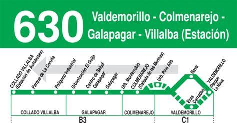 Horarios de autobús 630: Villalba  Estación    Galapagar ...