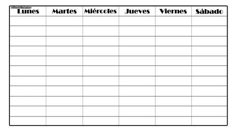 Horarios semanales. by PaulitaLovatics on DeviantArt