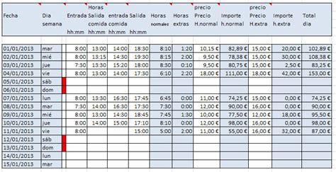 Horas quincenales trabajadas en Excel   Opiniones, precios ...