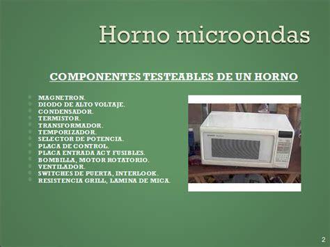 Horno microondas. Partes y testeo de componentes ...