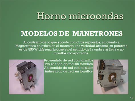 Horno microondas. Partes y testeo de componentes  página 2 ...
