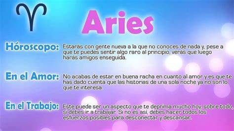 Horóscopo del día - Aries - 25/07/2015 - YouTube