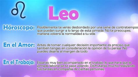 Horóscopo del día - Leo - 20/01/2016 - YouTube