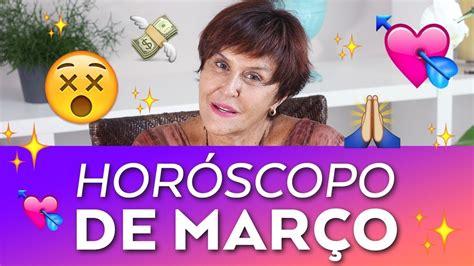 Horóscopo do mês de MARÇO - 2018 por Márcia Fernandes ...