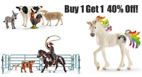 HOT! Amazon: Buy 1 get 1 40% Off Schleich!   SAVE A LA MODE