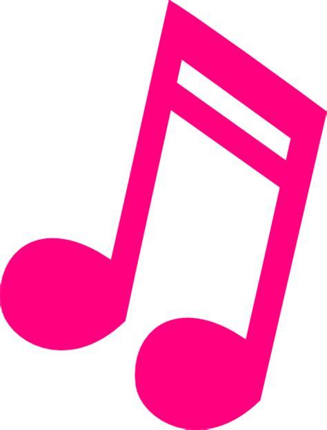 Hot Pink Music Note Clip Art at Clker.com   vector clip ...