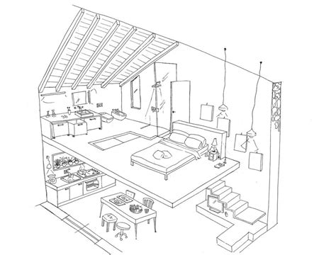 House Interior Design Coloring Pages