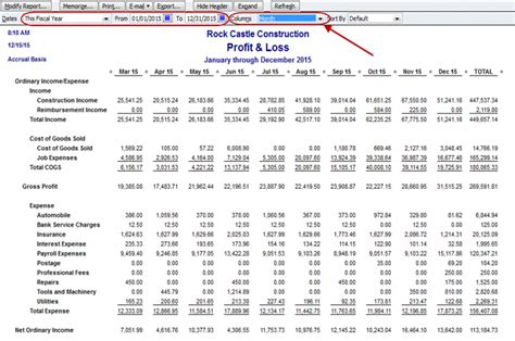 How do I run a monthly trend analysis report in quickbooks ...
