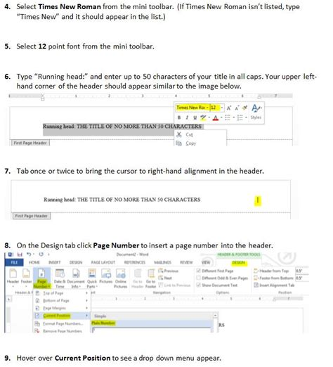 How do you set up an APA style header using Microsoft Word ...
