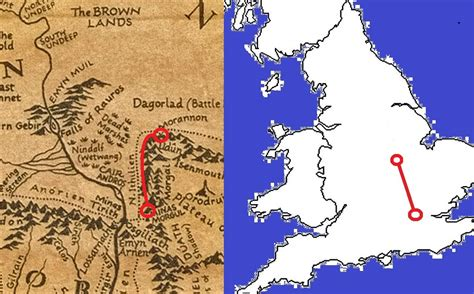 How far Frodo and Sam actually walked in Lord of the Rings ...
