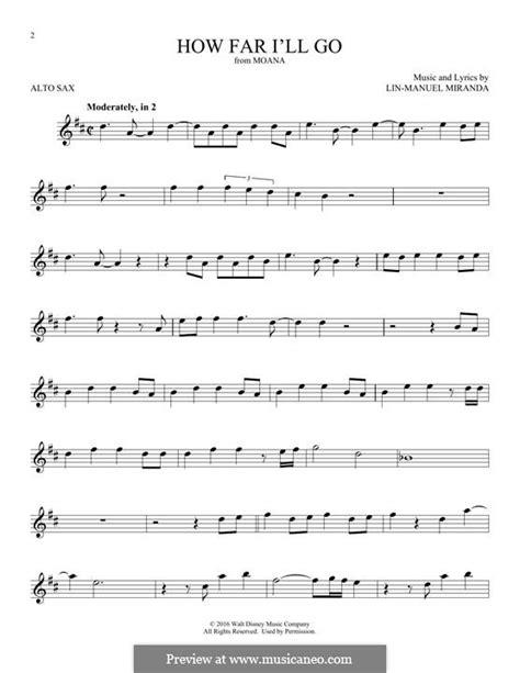 How Far I'll Go (Alessia Cara) by L. Miranda - sheet music ...