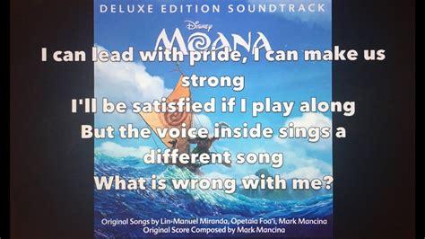 How Far I'll Go Lyrics - Moana (Auli'i Cravalho Version ...