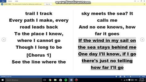 How Far I'll Go Lyrics - YouTube