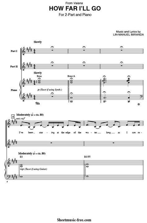 How Far I'll Go Sheet Music from Vaiana | Sheet Music Free ...