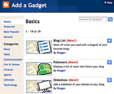How to Add Gadgets to Your Blogger Website