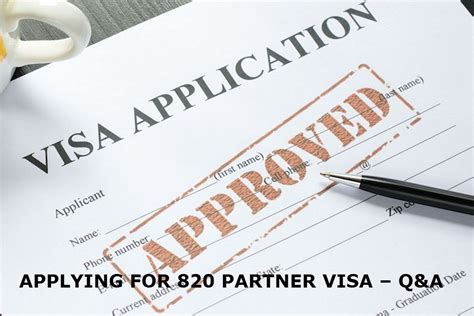How to apply for defacto partner Visa 820 to Australia