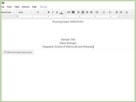 How to Create an APA Style Title Page via Google Drive: 12 ...