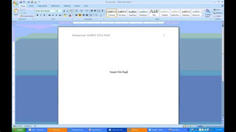 How to create APA Headers and Title Page using MS Word ...