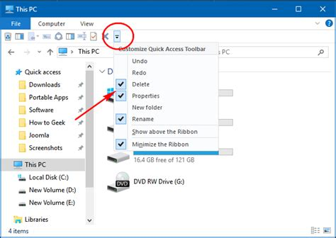 How to Customize File Explorer's Quick Access Toolbar in ...