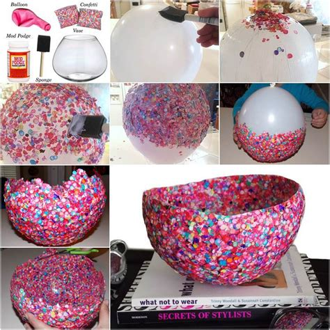 How to DIY Confetti Bowl in a Creative Way